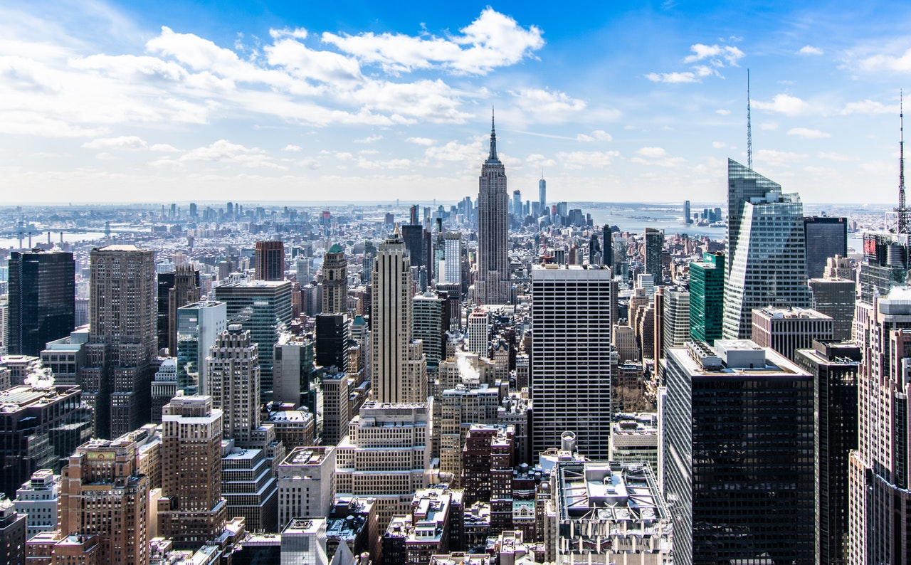 A photo of New York one of the highest developed sprawling urban city scapes on the planet